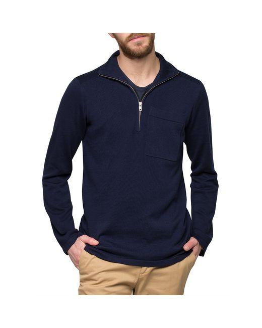 Womens Sweater Navy Zip 94