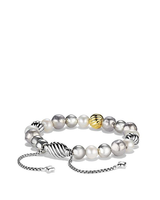 David Yurman | Metallic Dy Elements Bracelet With Pearls And 18k Gold, 8mm | Lyst