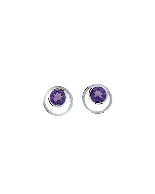 Azendi | Metallic Amethyst Circle In Circle Earrings | Lyst