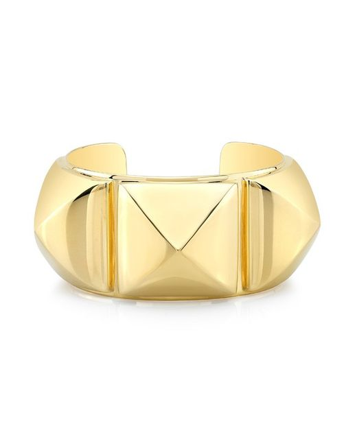 Anne Sisteron | Metallic 18kt Gold Plated Sterling Silver Large Pyramid Bracelet | Lyst