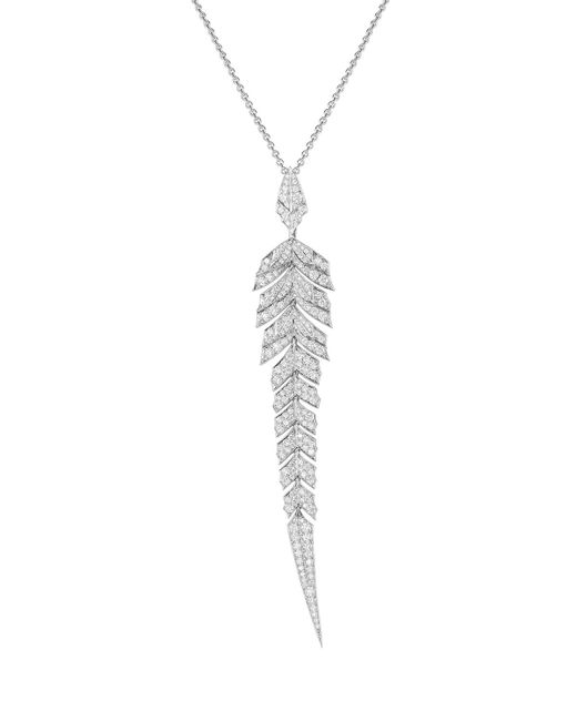 Stephen Webster | Metallic Magnipheasant Pavé White Diamond Pendant Necklace | Lyst