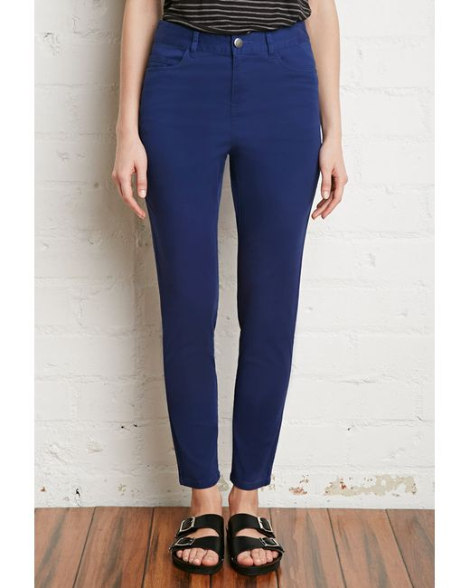 Forever 21 | Blue Skinny Ankle Jeans | Lyst