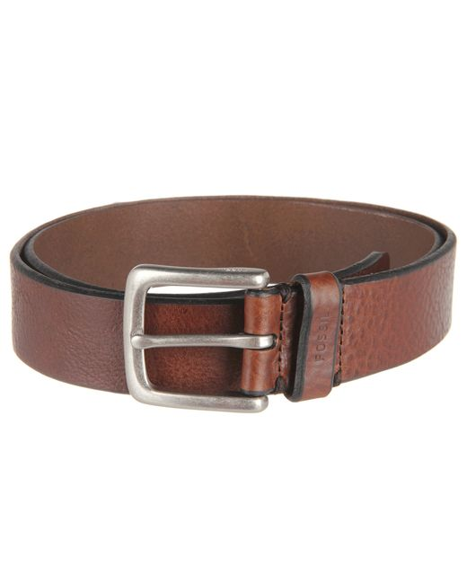 fossil joe belt in brown lyst