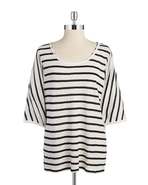 Calvin Klein | Black Striped Linen Shirt | Lyst