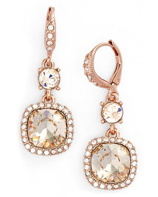 Red Givenchy Chandelier Earrings: Givenchy 'legacy' Drop Earrings In Pink (ROSE GOLD/ SILK