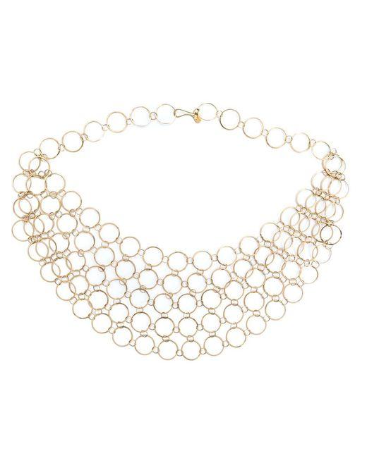 Melissa Joy Manning | Metallic Circle Link Collar Necklace | Lyst