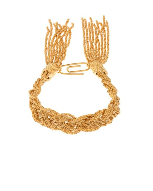 Aurelie Bidermann | Metallic Miki Gold-plated Braided Bracelet | Lyst