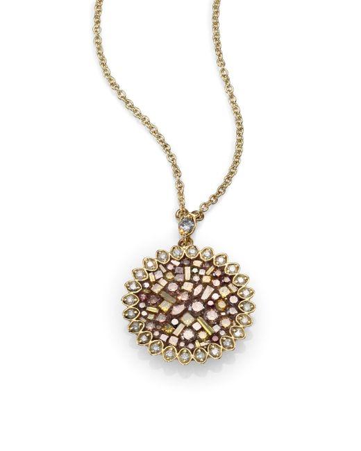 Plevé   Metallic Cinnamon Diamond & 18k Yellow Gold Mini Flower Pendant Necklace   Lyst