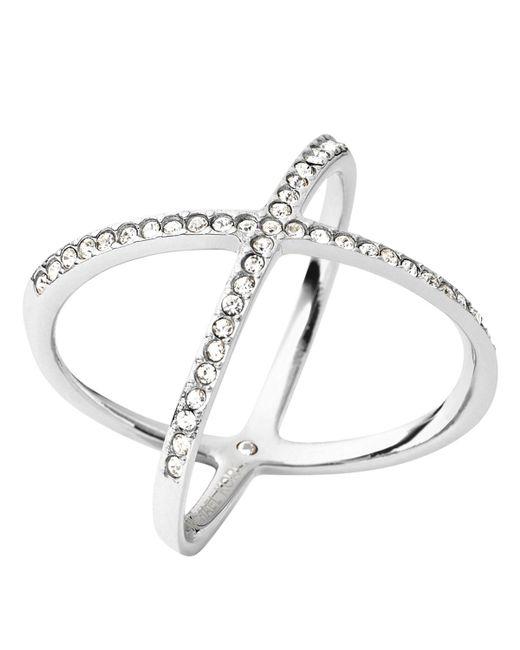 Michael Kors   Metallic Pave X Ring   Lyst