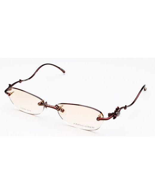 Judith leiber Rimless Swarovski Titanium Eyeglasses in ...