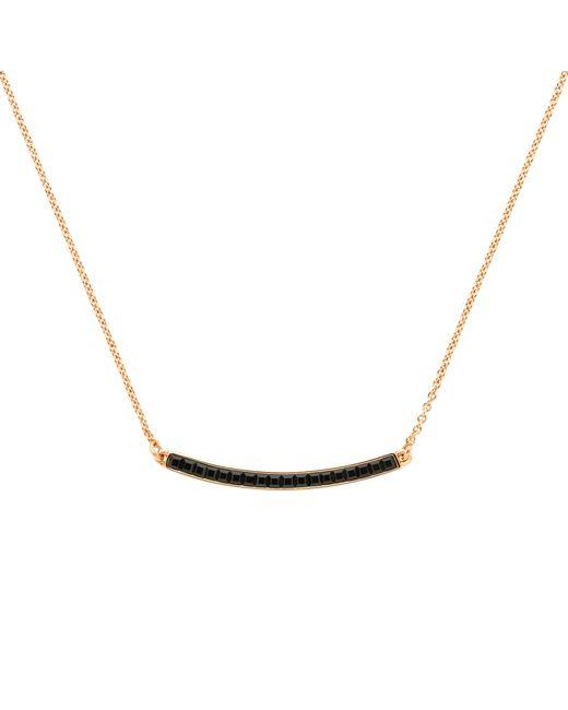 Melissa Odabash | Metallic Rose Gold Plated Swarovski Crystal Bar Necklace | Lyst