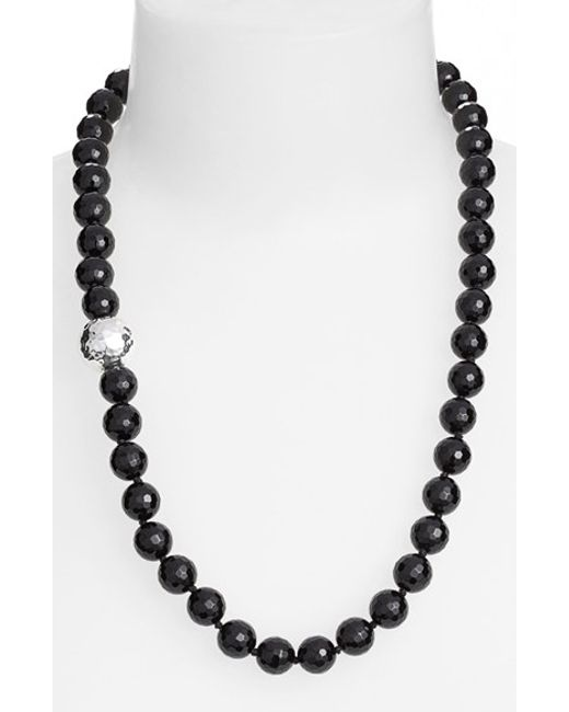 Simon Sebbag | Black Stone Beaded Necklace | Lyst