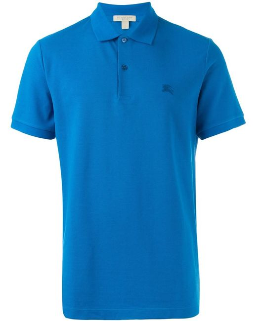 Burberry Brit Classic Polo Shirt In Blue For Men Lyst