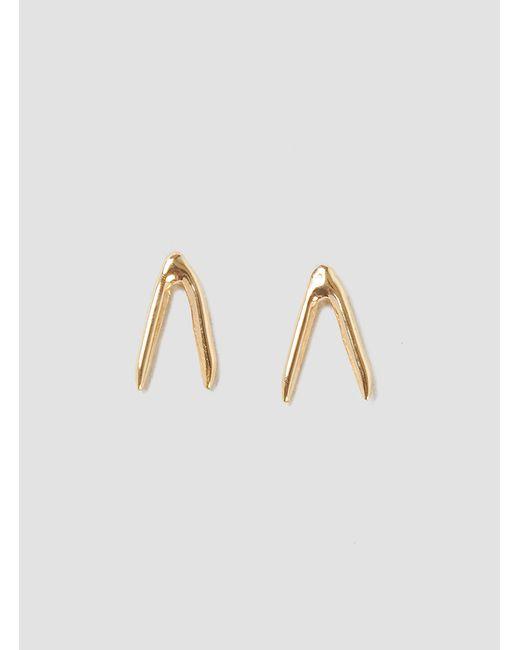 Wwake | Metallic Simple Open Triangle Earrings 14k Gold | Lyst