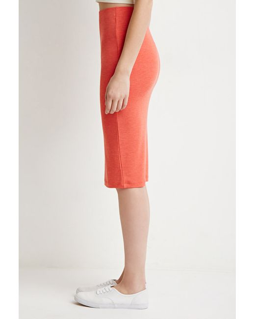 Forever 21   Heathered Pencil Skirt   Lyst
