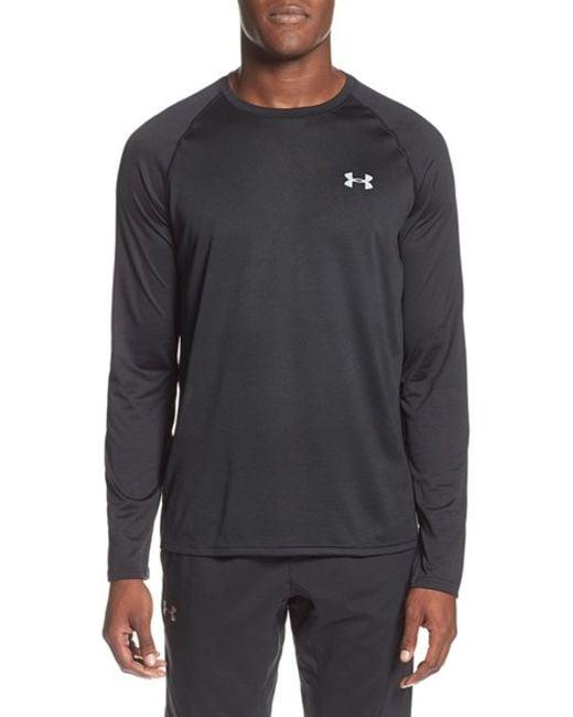 Under Armour   Black Long Sleeve Raglan T-shirt for Men   Lyst