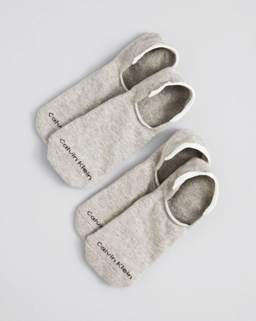 Calvin Klein | Gray Low Cut Cushion Sole Socks, Pack Of 2 for Men | Lyst