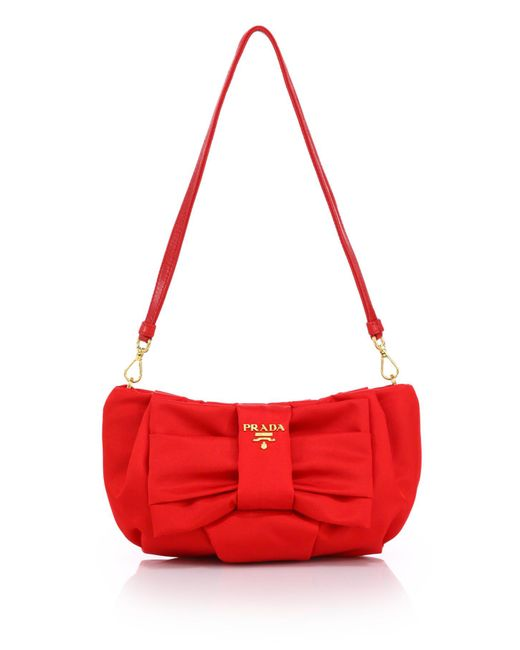 Prada | Red Nylon Zip Pouch | Lyst