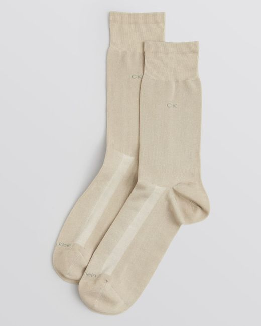 Calvin Klein | Brown Tech Cool Flat Knit Dress Socks for Men | Lyst