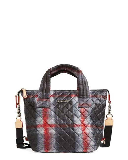 MZ Wallace | Black 'small Sutton' Quilted Oxford Nylon Crossbody Bag | Lyst