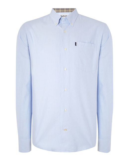 Barbour | Blue The Oxford Long Sleeve Button Down Shirt for Men | Lyst
