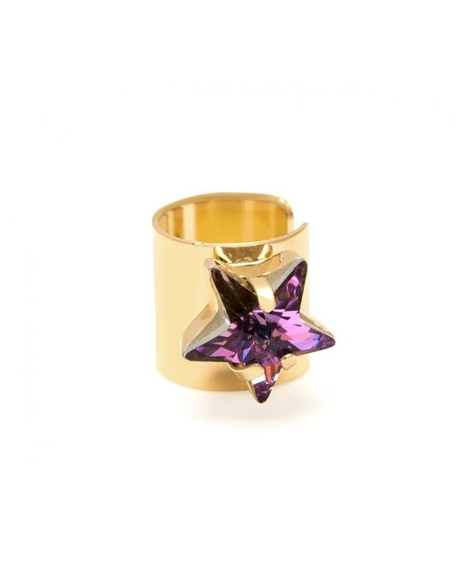 Maria Francesca Pepe | Metallic Star Stone Ear Cuff Gold | Lyst
