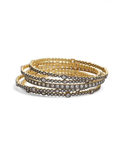 Freida Rothman | Metallic 'visionary' Stackable Bangles (set Of 5) | Lyst