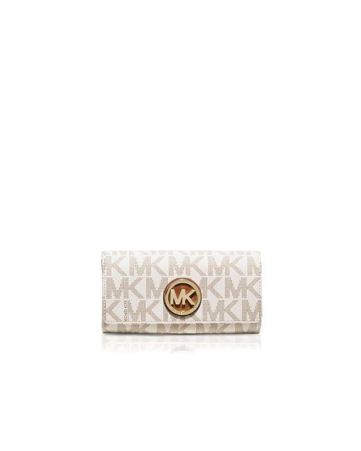 MICHAEL Michael Kors | White Fulton Carryall Logo Wallet | Lyst