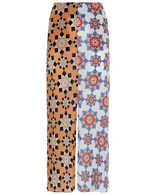 Jonathan Saunders   Floral Multi Star Print Chiffon Skirt   Lyst