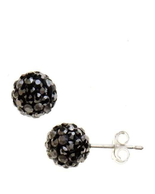 Lord & Taylor | Black Sterling Silver Cluster Stud Earrings | Lyst