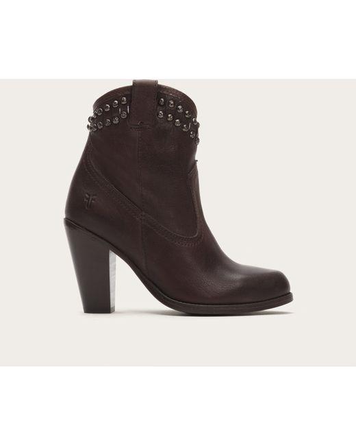 Frye   Black Jenny Cut Stud Short Boots   Lyst