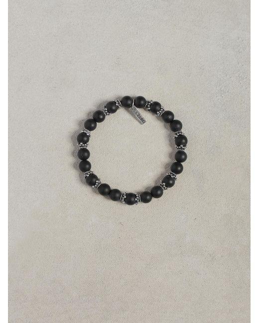 John Varvatos | Black Onyx & Silver Bracelet for Men | Lyst