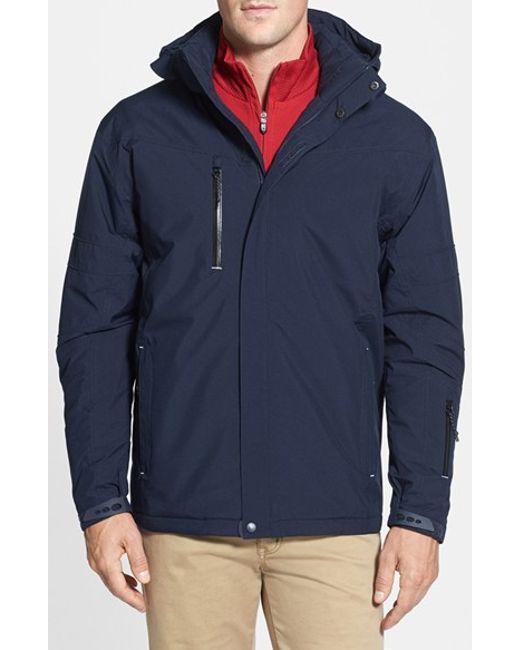 Cutter & Buck | Blue 'weathertec Sanders' Jacket for Men | Lyst