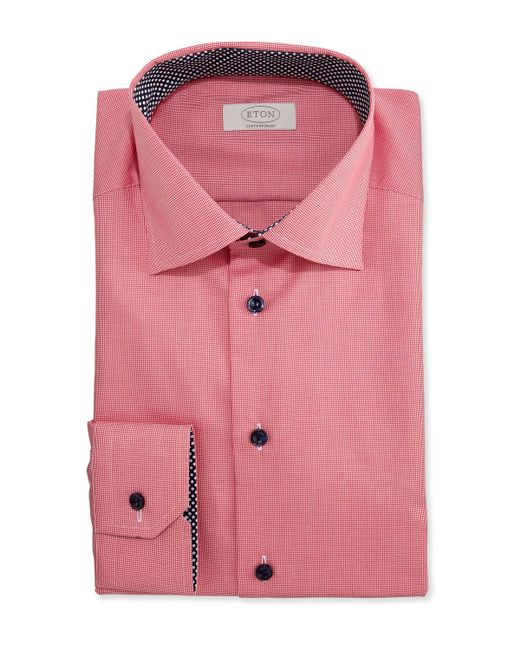 Eton Of Sweden Contemporary Fit Micro Gingham Dress Shirt