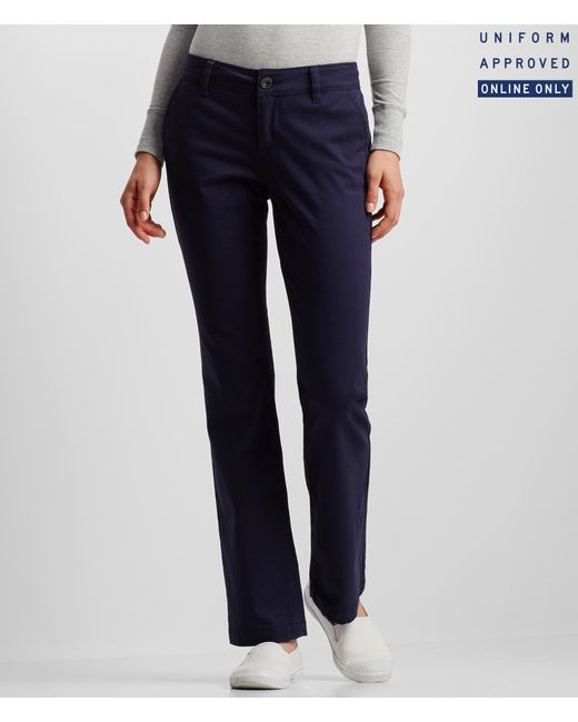 Aéropostale | Blue Curvy Core Twill Pants | Lyst