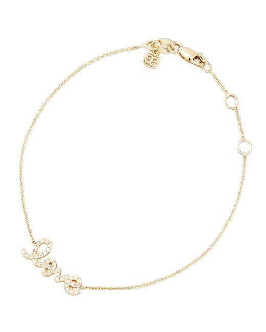 Sydney Evan | Metallic Small Yellow Gold Diamond Love Bracelet | Lyst