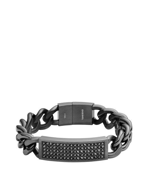DIESEL | Black Bracelet Dx0945 for Men | Lyst