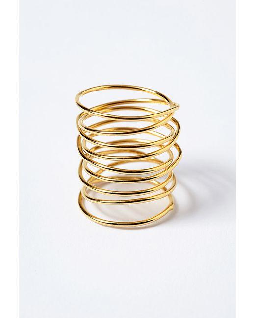 Forever 21 | Metallic Amarilo Amelia Wrap Ring | Lyst