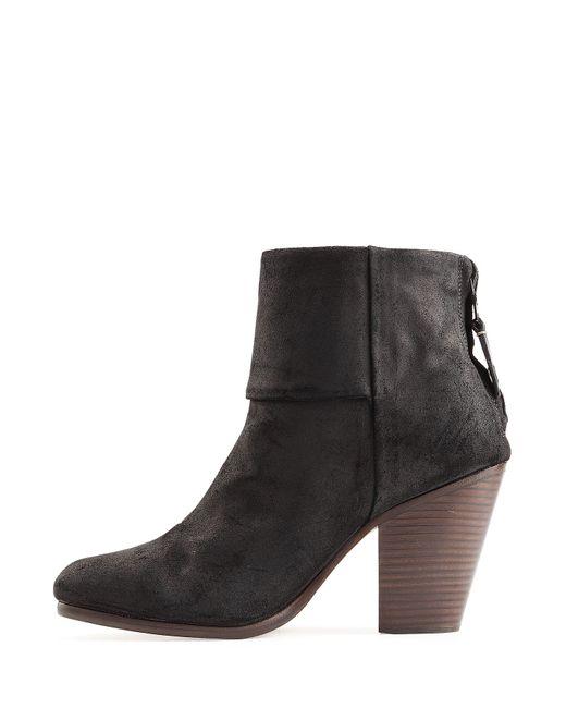rag bone classic newbury suede ankle boots black in