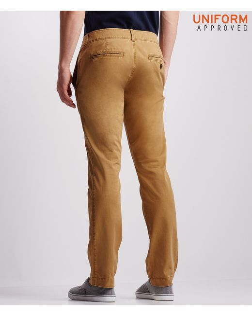 Aéropostale | Brown Uniform Slim Straight Flat-front Pants for Men | Lyst