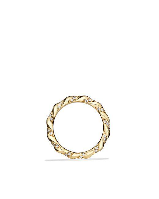 David Yurman | Metallic Dy Unity Wedding Band With Diamonds In 18k Gold, 2.6mm | Lyst