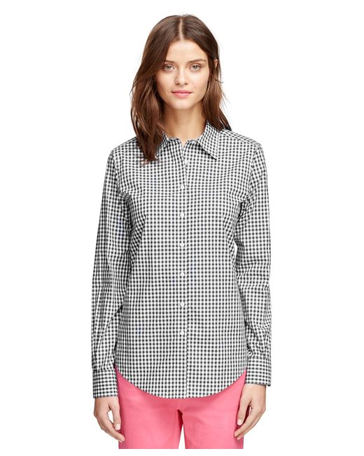 Brooks Brothers | Black Non-iron Classic Fit Gingham Dress Shirt | Lyst