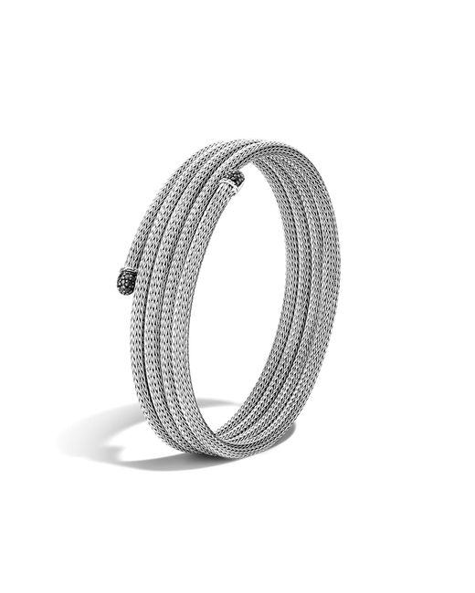 John Hardy | Classic Chain Four Coil Bracelet With Black Sapphire | Lyst