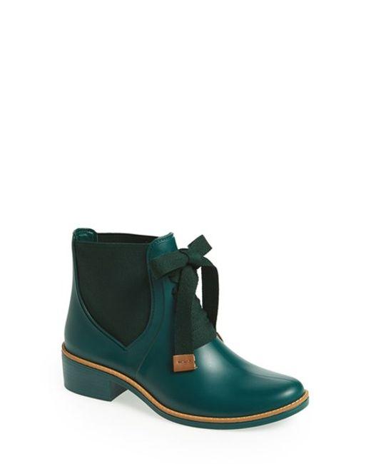 Bernardo | Green 'lacey' Short Waterproof Rain Boot | Lyst