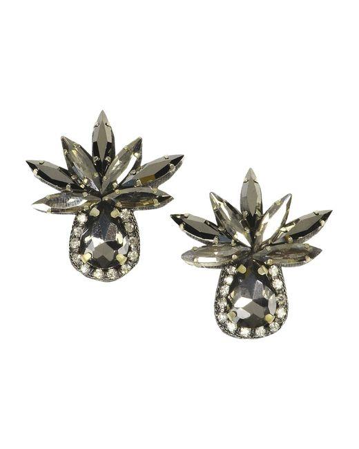Deepa Gurnani | Gray Earrings | Lyst