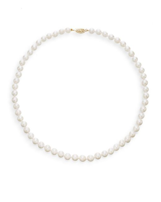 Saks Fifth Avenue | 6mm-6.5mm Akoya White Round Cultured Pearl Strand Necklace/16"