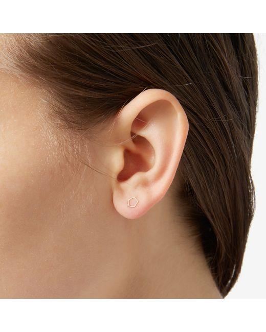 Grace Lee   Metallic Whimsy Pentagon Earrings   Lyst