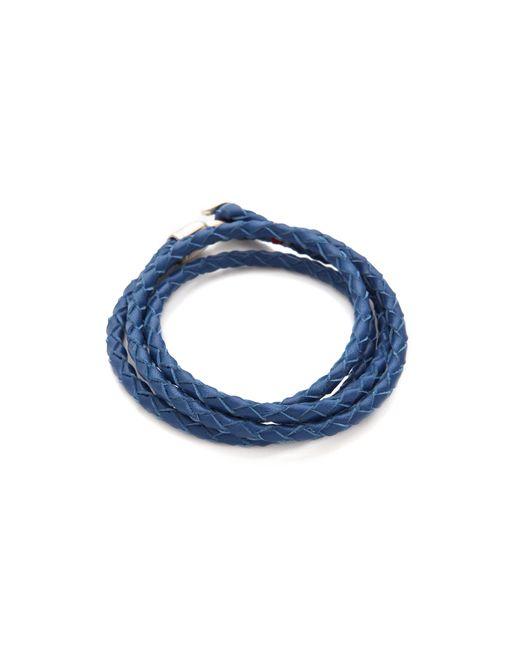 Miansai | Blue Trice Woven Leather Wrap Bracelet for Men | Lyst