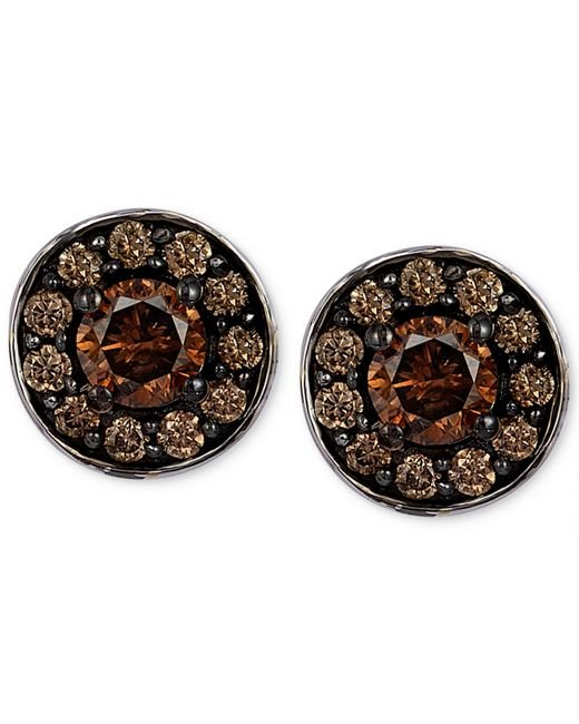 Le Vian | Brown Chocolatier® Chocolate Diamond Stud Earrings In 14k White Gold (3/4 Ct. T.w.) | Lyst
