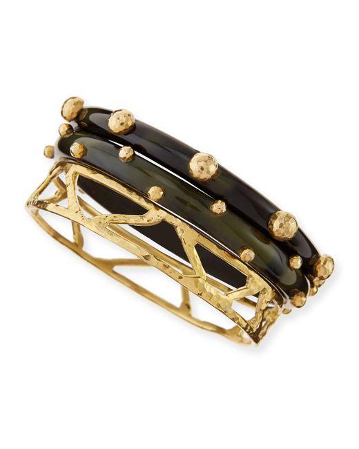 Ashley Pittman | Metallic Mwundo Dark Horn & Bronze Bangles | Lyst